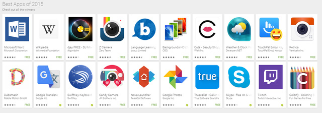 Best androi app 2015